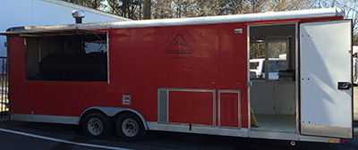 Food Truck For Lease - BBQ Trailer mobile kitchen for bbq business.