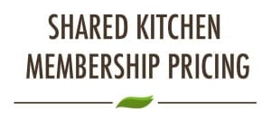PREP Shared Kitchen Pricing